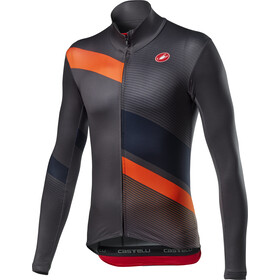 Castelli Mid Thermal Pro Maillot manches longues Homme, dark grey/orange